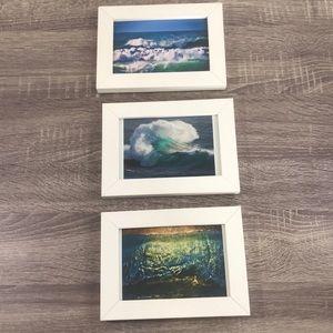 3 Ocean Prints off the coast of California